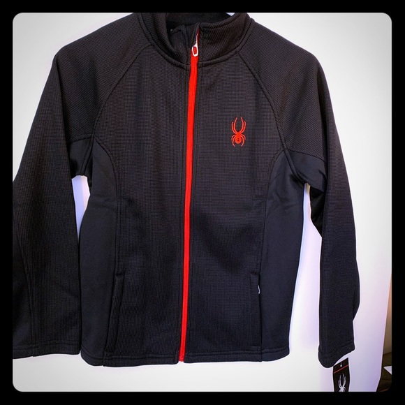 Size S Spyder Kids Outbound Stryke Jacket Sweatshirt Sweater 8 Boys NWT